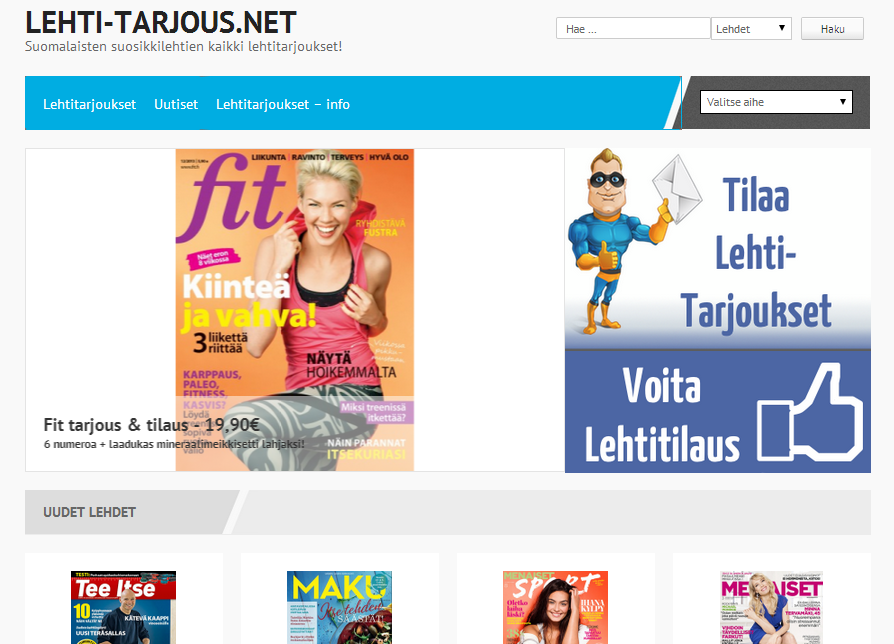 Lehti-tarjous.net - kaikki tilaajalahjat ja tarjoukset